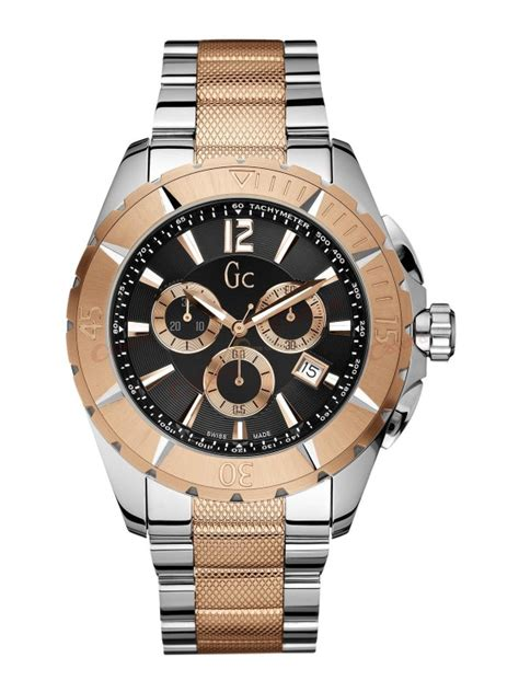 guess collection chronograph two tone stainless steel