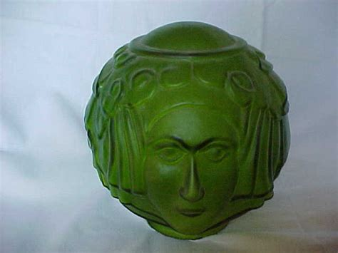 art deco l shade art deco lady face green glass l shade from