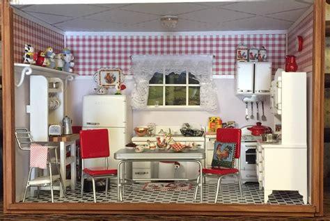 dollhouse kitchen 1950s kitchen nana s dollhouses and miniatures