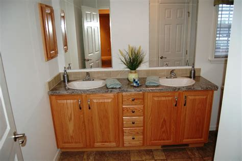oak bathroom vanity cabinet is elegant design solution