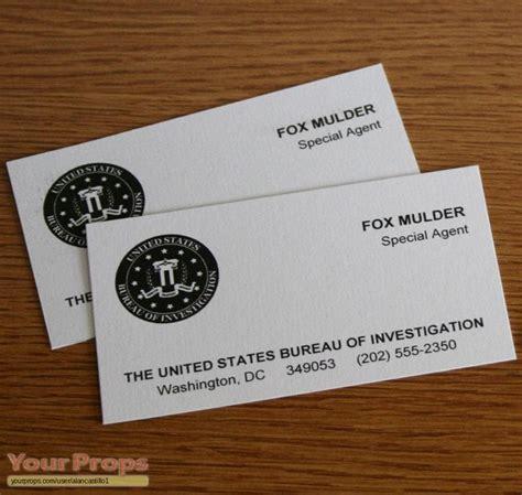 fbi business card templates the x files fox mulder fbi business cards replica tv
