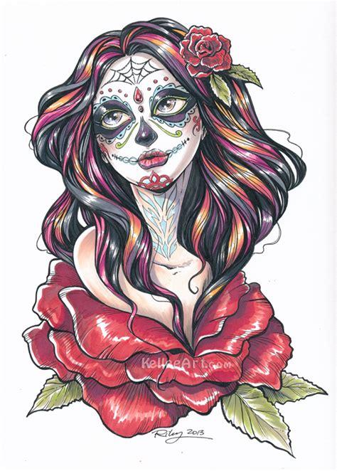 tattoo nightmares dia de los muertos dia de los muertos final by kelleeart on deviantart