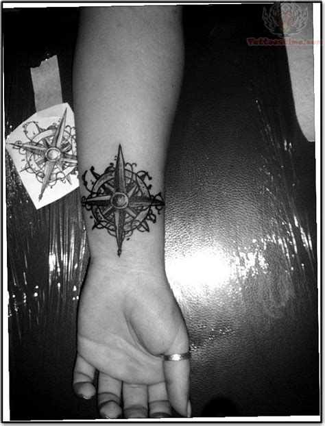 Compass Tattoo Black And White Image Black And White Tattoos For