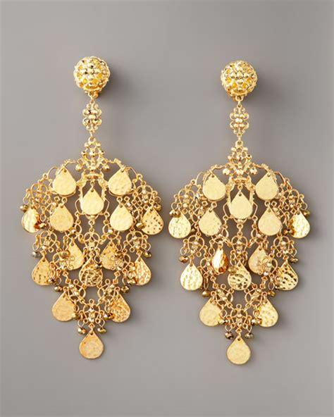 Chandelier Earrings Gold Jose Barrera Gold Filigree Chandelier Earrings