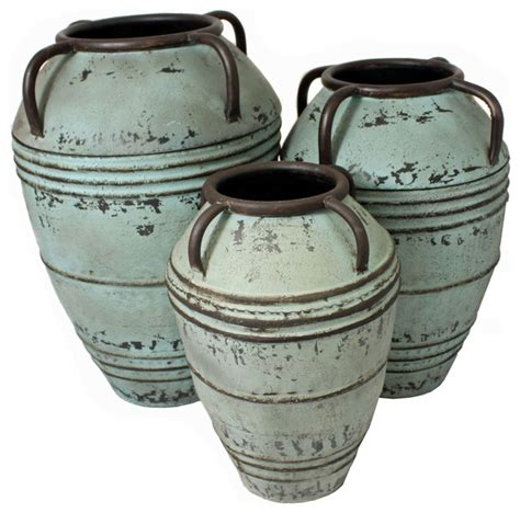 Decorative Pots And Vases designs artisan large rustic decorative metal