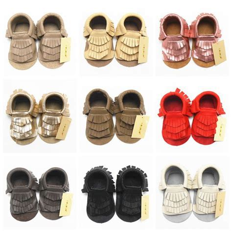 Sepatu Bayi Perempuan Baby Shoes Prewalker Berjalan Lembut 2015 musim panas tembel bayi kulit mokasin effent jumbai emas bayi perempuan renda sepatu