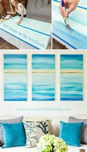 create a soothing beach vibe with easy diy ocean canvas art beach bliss living decorating