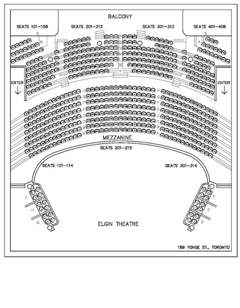 winter garden theatre nyc seating chart elgin theatre the tix company