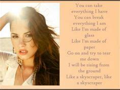 demi lovato skyscraper poetry analysis i want it that way backstreet boys ugh confession time