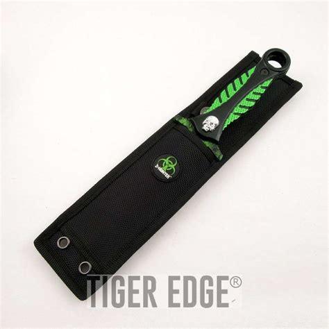 sided knives zhunter green skull dagger sided knife
