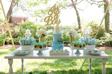 Blue And Gold Baby Shower by Amazing Decoration Blue And Gold Baby Shower Fancy Idea