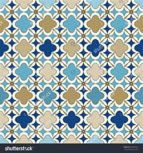 islamic pattern background blue blue gold islamic seamless pattern oriental stock vector
