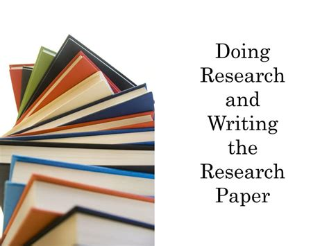 writing a research paper powerpoint ppt doing research and writing the research paper