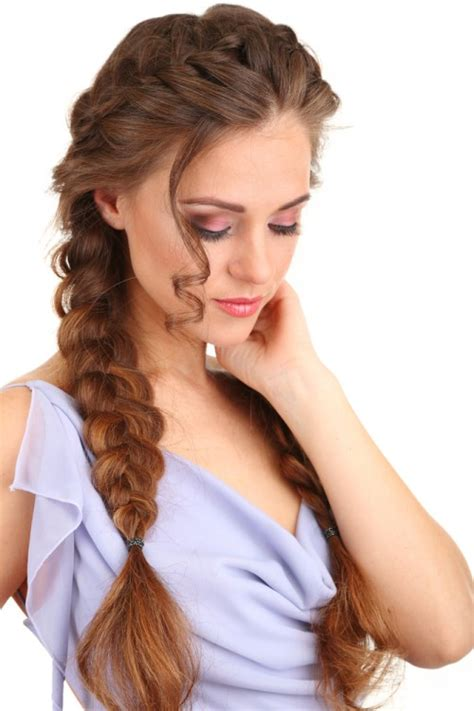 hairstyles braids to the side best plaited hairstyles for curly hair