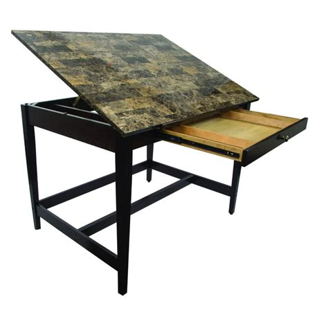 36 x 48 table alvin 36 quot x 48 quot vanguard drawing table with marble look