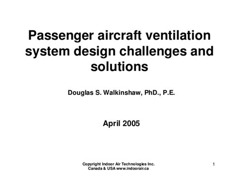 Exhaust System Design Ppt Aircraft Ventilation System Design Challenges