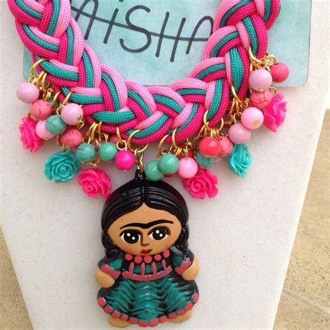 143 Postlift 2 Kaki By Handmade 143 best collares frida kahlo images on