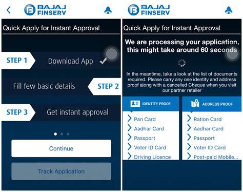 bajaj finance in mobile bajaj finserv launches india s emi app