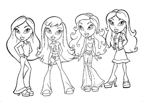 walt disney coloring pages bratz beautiful girls kids
