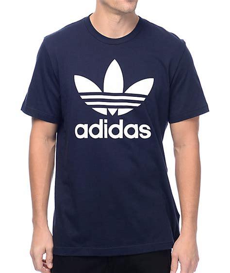T Shirt Adidas Navy Check Bluesky adidas originals trefoil legend ink navy t shirt zumiez