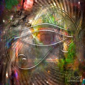 Acrylic Flower Painting - third eye digital art by mynzah osiris
