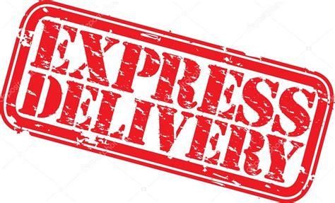 rubber st express grunge express delivery rubber st vector illustration