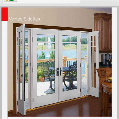 single patio door with side windows patio doors with small opening side windows quot need screens and possibly shades blinds between