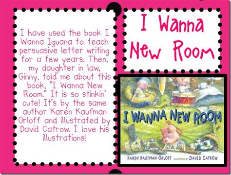 I Wanna New Room by Persuasive Writing Writing
