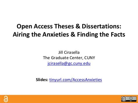 open access dissertations and theses open access theses dissertations airing the anxieties