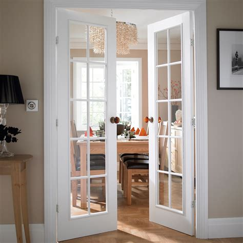 Interior Garden Door Cadeby 10 Lite Clear Glazed Moulded Internal French French Door H 1981mm W 1168mm