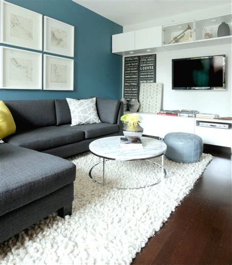 Grey Living Room With Green Accent Wall Marble Top Coffee Table Contemporary Living Room