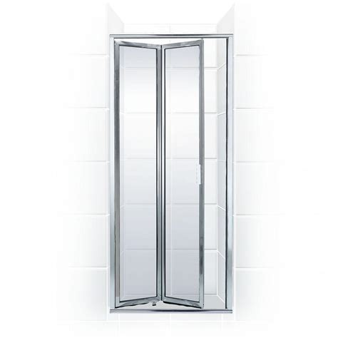 Folding Glass Shower Door Coastal Shower Doors Paragon Series 24 In X 71 In Framed Bi Fold Hinged Shower Door In