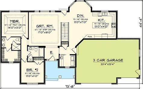 first floor master bedroom updated 2 bedroom ranch home plan 89817ah 1st floor