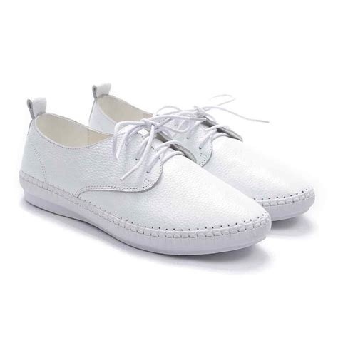 lace up loafers womens fashion genuine leather lace up loafers flats