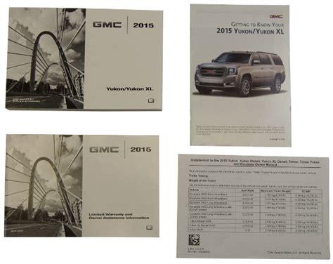 book repair manual 1997 gmc yukon user handbook 2015 gmc yukon yukon xl us owners manual book w warranty book new oem 23248415 factory oem parts