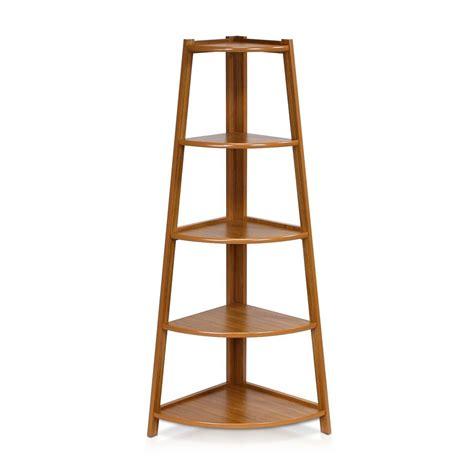 Corner Shelf Rack by 5 Tier Wood Corner Cabinet Shelf Furniture Ladder Rack