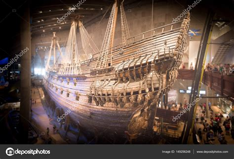 vasa ship museum vasa museum ship in stockholm stock editorial photo