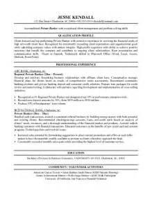 Resume Format: Resume Template Banker