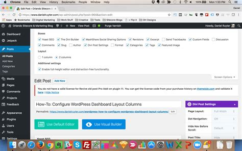 wordpress dashboard layout wordpress how to configure wordpress dashboard layout columns