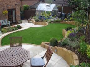 Landscaping Ideas For Sloping Gardens Terraced Sloped Backyard Terraced Sloping Garden Lush Landscape Garden Design Lush