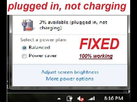 Asus Laptop Battery Plugged In Charging But 0 how to fix plugged in not charging battery problem windows 7 8 10