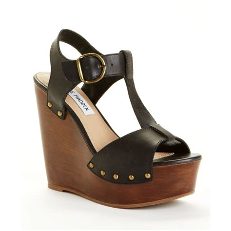 Steve Madden Wedge Sandals by Steve Madden Wyliee Wedge Sandals In Black Lyst