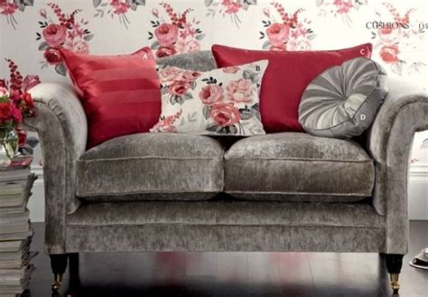 laura ashley grey sofa love this grey velvet sofa and cushion arrangement by