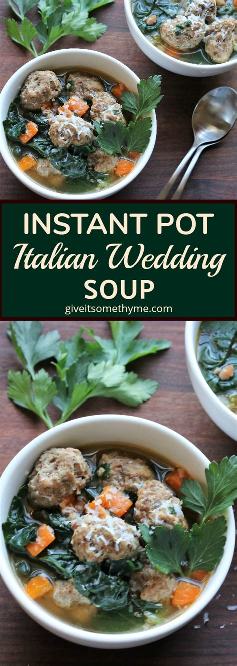 instant pot paleo wedding soup instant pot italian wedding soup give it some thyme