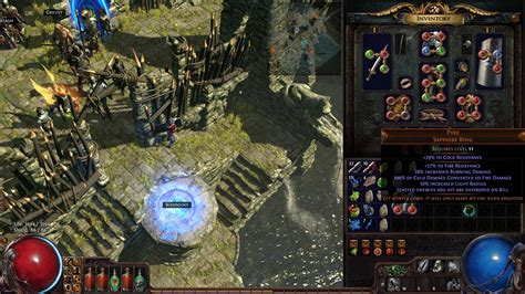 new unique ring pyre sapphire ring pathofexile