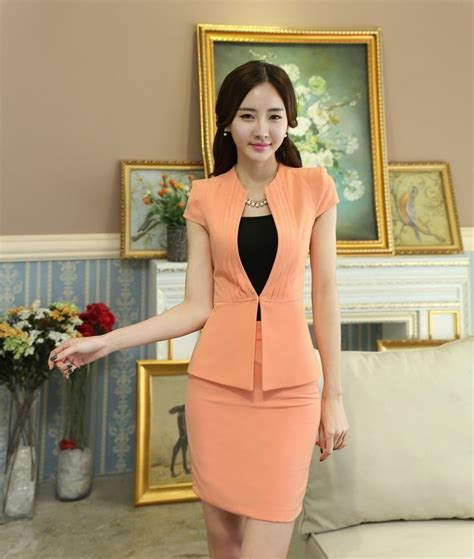 Vest Set Blazer Dress Skirt office designs skirt suits blazer and jacket