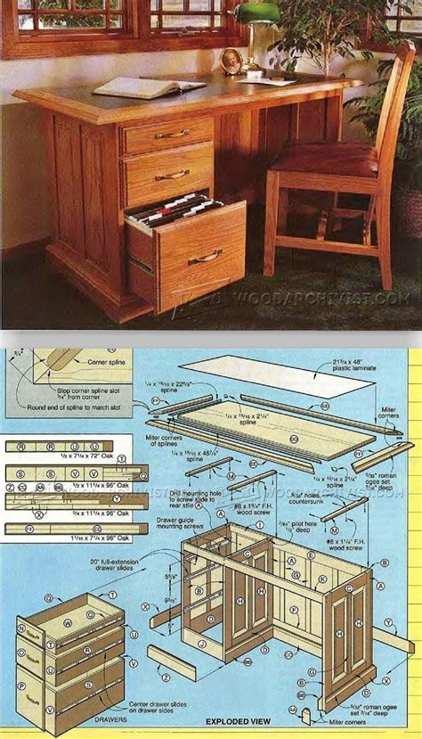 Plans To Build A Desk by Best 25 Woodworking Desk Plans Ideas On