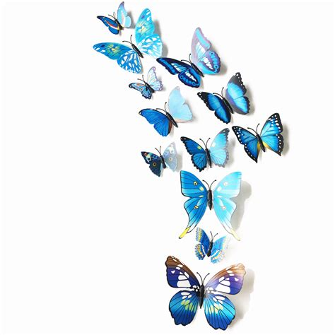 C40 Wallpaper Sticker Green With Butterfly 12pc set 3d wall stickers butterflies on the wall home decor bedroom decals wall sticker