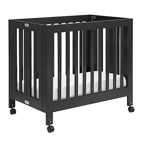 Black Mini Cribs Convertible Cribs Gt Babyletto Origami Mini Crib In Black From Buy Buy Baby