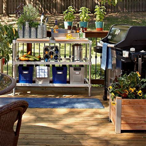 outdoor deck plan arrange furniture ideas gardening tools